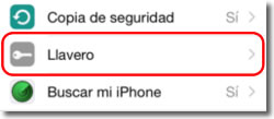 El llavero del iPhone o iPad