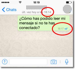 Utilizar Whatsapp sin que cambie nuestra última hora