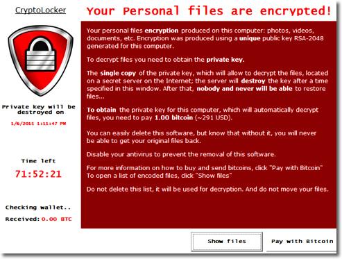 Máxima alerta con Cryptolocker
