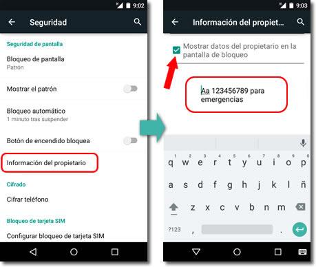 Resultado de imagen de mensaje en pantalla bloqueo android