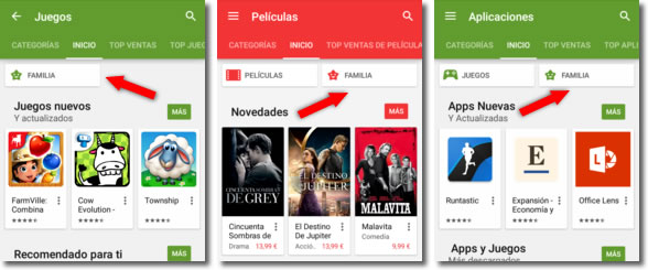Google Play Familia