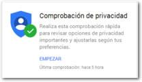 Toda la seguridad y privacidad de Google en un solo sitio