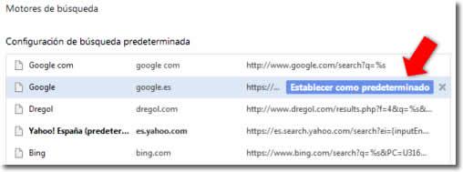 Cómo recuperar el motor de búsqueda Google en mi navegador