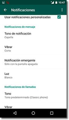 Las notificaciones personalizadas de whatsapp