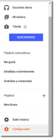Toda tu música disponible en Google Play Music