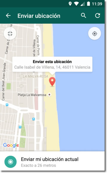 Si quieres que te encuentren, comparte tu ubicación con Whatsapp