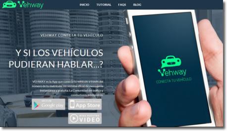 Vehway es una red social donde buscar contactos por la matrícula del vehículo