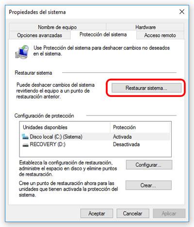 Cómo y por qué crear puntos de restauración en Windows 10