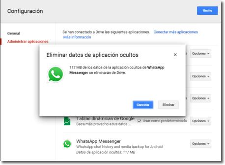 Cómo borrar completamente una conversación del Whatsapp
