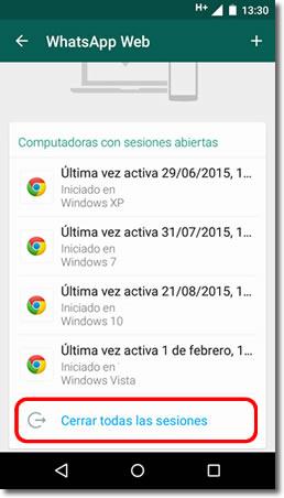 Desconecta Whatsapp Web si no quieres que lean tus conversaciones