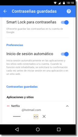 Smart Lock contraseñas, el gestor de contraseñas en Android y Chrome