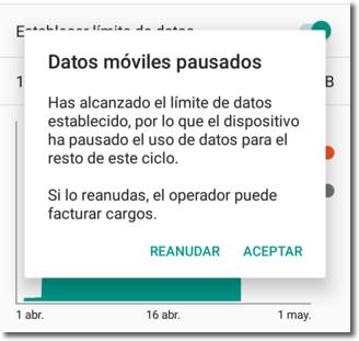 limitar el consumo de datos en los teléfonos móviles
