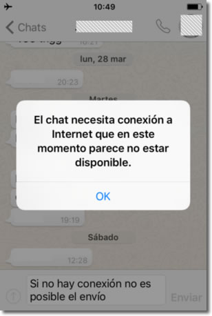 Whatsapp envía tu mensaje aunque lo borres antes de salir