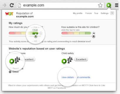 WOT, una herramienta para conocer la confianza de las páginas Web