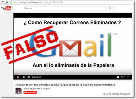 Vídeo fraude: ¿Cómo recuperar correos de Gmail incluso borrados de la papelera?