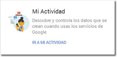 Mi actividad en Google