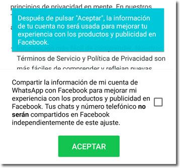 ¿Quieres compartir tu Whatsapp con Facebook?