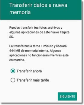 Formatear la tarjeta SD como memoria interna en Android 6