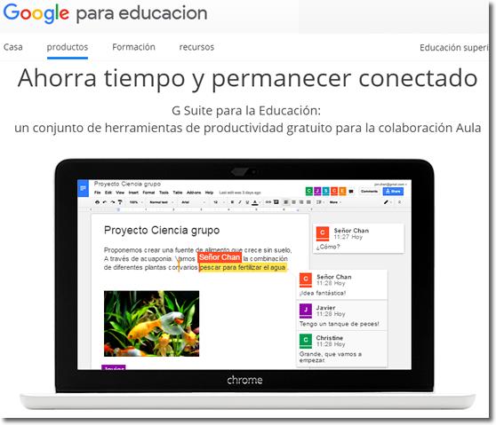 Google Suite para la educación