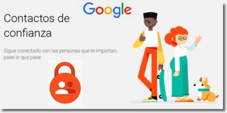 Contactos de confianza de Google, app de localización en caso de emergencia