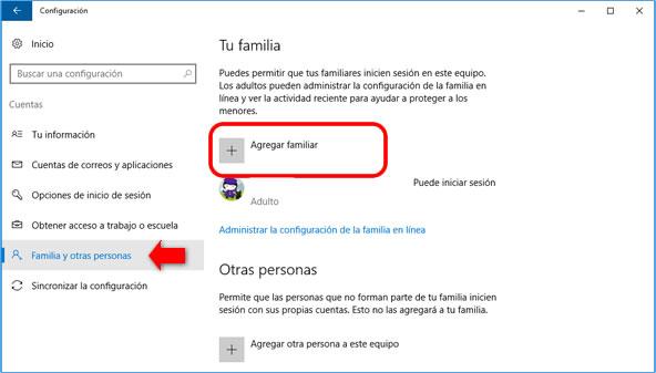 Cómo crear usuarios para niños en Windows 10