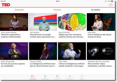 TED, vídeos de charlas inspiradoras y disponibles en todas las plataformas