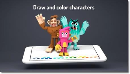 Google Toontastic 3d, aplicación infantil para crear películas