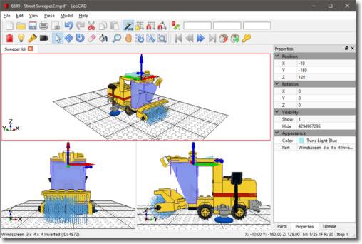 LeoCAD, programa CAD para crear construcciones virtuales LEGO