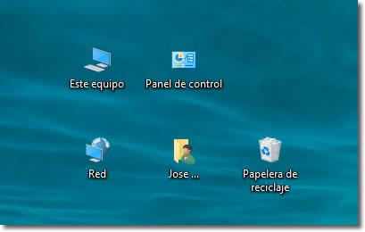 Cómo ver el icono de EQUIPO (Mi PC) en el escritorio de Windows 10