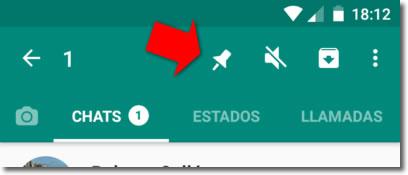 La chincheta de Whatsapp nos permite fijar conversaciones