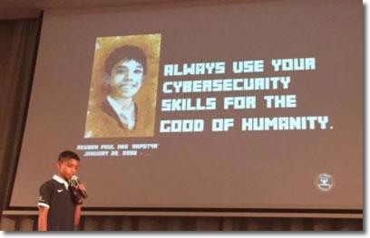 Reuben Paul, con solo once años y ya da conferencias sobre ciberseguridad