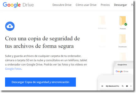 Backup and Sync es el servicio automático de copia de seguridad de Google