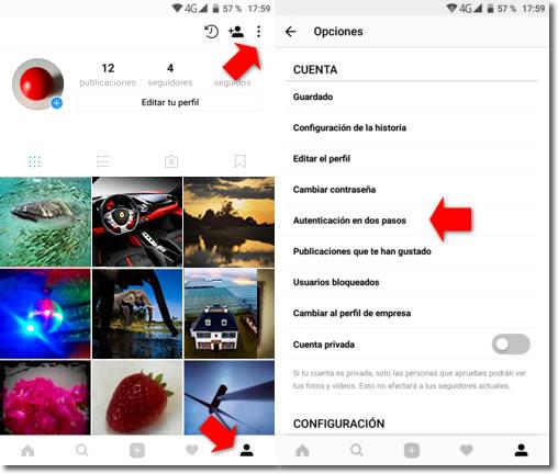 Mejora la seguridad de tu Instagram con la verificación en dos pasos