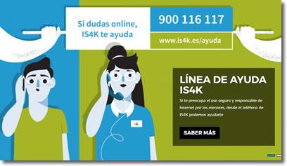 Teléfono de ayuda gratuito sobre los problemas en Internet para menores