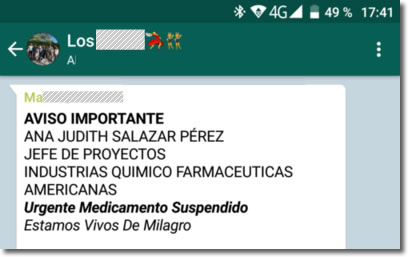 El bulo de la sustancia peligrosa en los antigripales circula por Whatsapp