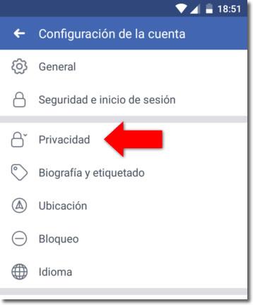 No quiero que aparezca mi nombre de Facebook en los buscadores