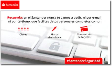 Oleada de intentos de suplantación del Banco Santander o phishing