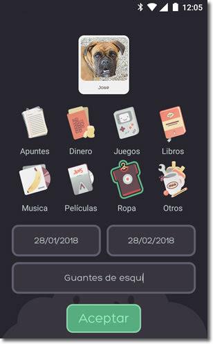 That's mine, aplicación que nos ayuda a controlar lo que prestamos