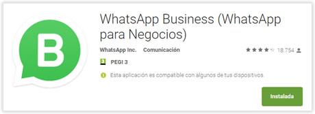 WhatsApp Business (negocios) para números móviles y fijos