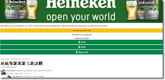 No hagas caso, Heineken no regala 4 barriles de cerveza
