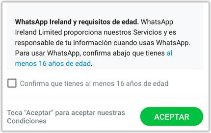 Whatsapp limita su uso a menores de 16 años, pero…