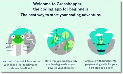 Aplicación Grasshopper de Google para aprender a programar en javascript
