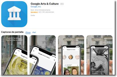 Google Arts & Culture. Una fuente inagotable de cultura y entretenimiento