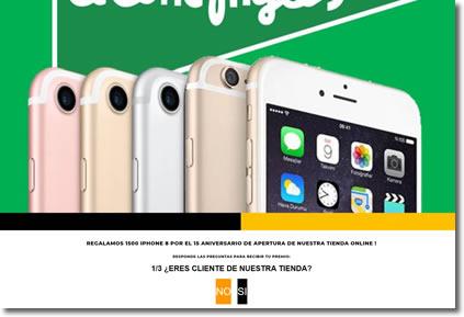 El Corte Inglés no regala iPhones por el aniversario de su tienda Online