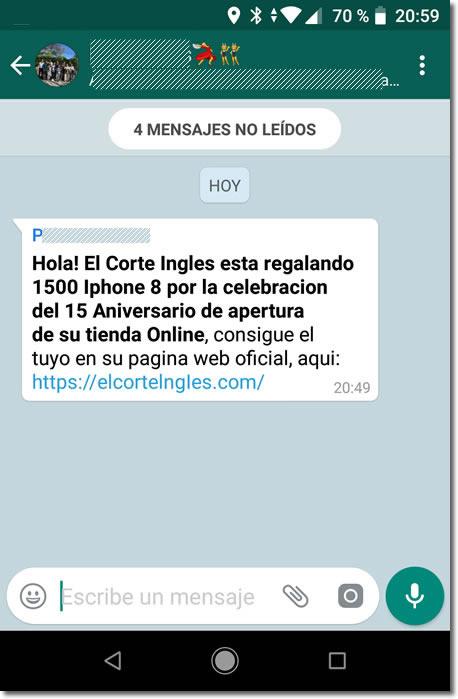 EL CORTE INGLES REGALA IPHONS