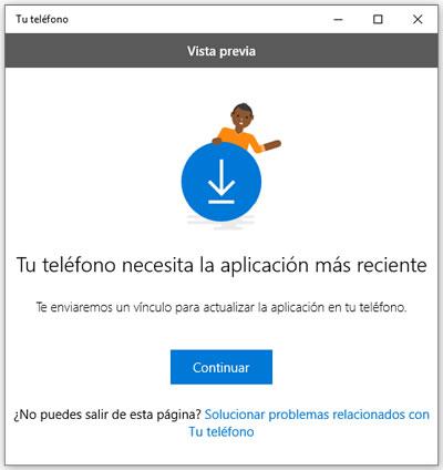 Aplicación Tu Teléfono de Windows 10