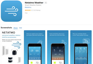 Estación meteorológica inteligente de Netatmo para interior y exterior