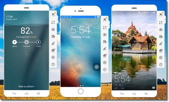Con ApowerMirror podemos clonar los Android y visualiza los iPhone en un PC