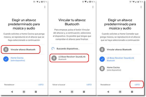 Cómo enlazar Google Home con un altavoz Bluetooth para escuchar música