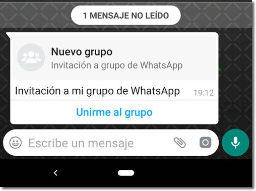 Solicitar grupo whatsapp